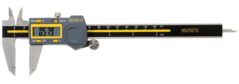 "Asimeto 7307065 0-6"" x 0.0005"" Digital Caliper"