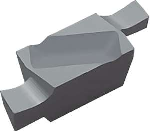 Kyocera GVF L100AA KW10 Grade Uncoated Carbide, Indexable Grooving Insert