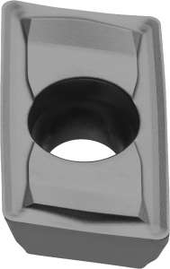 Kyocera JOMT 100308ERD PR1210 Grade PVD Carbide, Parallelogram, Positive Rake Angle, Right-Hand Milling Insert for Finishing-Roughing in Cast Iron and Heat-resistant Alloy