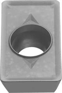 Kyocera NDMT 080208ERD PR660 Grade PVD Carbide, Parallelogram, Positive Rake Angle, Right-Hand Milling Insert for Roughing in Steel and Stainless Steel