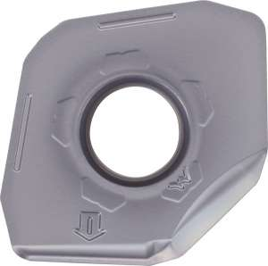 Kyocera PNEU 1205ANERW PR1525 Grade PVD Carbide, Pentagon, Positive Rake Angle, Right-Hand Milling Insert for Finishing-Roughing in Steel and Hard Material