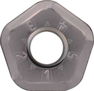 Kyocera PNMU 1205ANERGH PR1535 Grade PVD Carbide, Pentagon, Positive Rake Angle, Right-Hand Milling Insert for Medium-Roughing in Heat-resistant Alloy and Stainless Steel