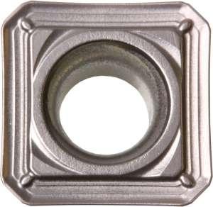 Kyocera SEKT 43AFENS TN100M Grade Uncoated Cermet, Square, Positive Rake Angle, Neutral Milling Insert for Finishing-Medium in Steel