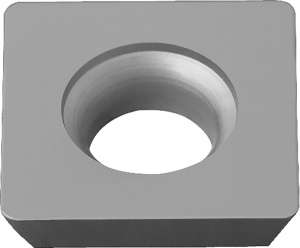 Kyocera SEKW 43AFTN PR1225 Grade PVD Carbide, Square, Positive Rake Angle, Neutral Milling Insert for Medium-Roughing in Steel and Stainless Steel