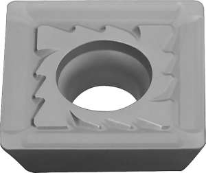 Kyocera SEMM 150408PESR KW10 Grade Uncoated Carbide, Square, Positive Rake Angle, Right-Hand Milling Insert for Finishing-Medium in Non-ferrous Metal and Heat-resistant Alloy
