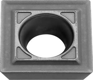 Kyocera SEMT 421C KW10 Grade Uncoated Carbide, Square, Positive Rake Angle, Neutral Milling Insert for Finishing-Medium in Non-ferrous Metal and Heat-resistant Alloy
