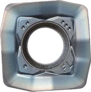 Kyocera SOMT 140514ERFL PR1535 Grade PVD Carbide, Square, Positive Rake Angle, Right-Hand Milling Insert for Medium-Roughing in Heat-resistant Alloy and Stainless Steel