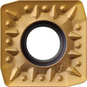 Kyocera SPMT 1806EDERV PR1230 Grade PVD Carbide, Square, Positive Rake Angle, Right-Hand Milling Insert for Medium-Roughing in Steel and Stainless Steel