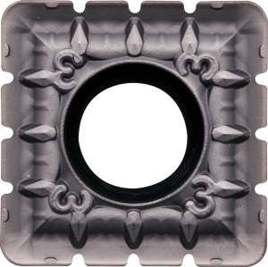 Kyocera SPMT 180616ENNB3 PR1230 Grade PVD Carbide, Square, Positive Rake Angle, Neutral Milling Insert for Medium-Roughing in Steel and Stainless Steel