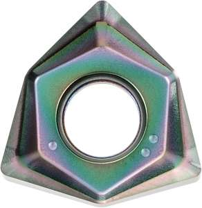 Kyocera WNGT 080608FNAM PDL025 Grade DLC, Trigon, Positive Rake Angle, Neutral Milling Insert for Finishing-Medium in Non-ferrous Metal