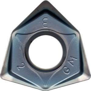 Kyocera WNMU 080608ENGM PR1535 Grade PVD Carbide, Trigon, Positive Rake Angle, Neutral Milling Insert for Medium-Roughing in Heat-resistant Alloy and Stainless Steel