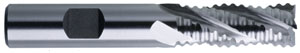 "Brubaker HSS 938, 1/2"" Shank, 1/2"" Cut SE Multi-Flute Coarse Pitch Rougher NCC"