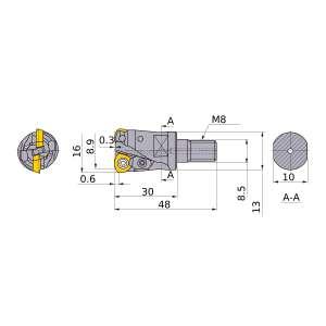 Mitsubishi-AJX06R162AM0830 8.9mm Face Mill (AJX06R162AM0830)