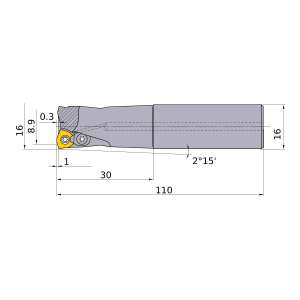 Mitsubishi-AJX06R162SA16S 8.9mm Face Mill (AJX06R162SA16S)