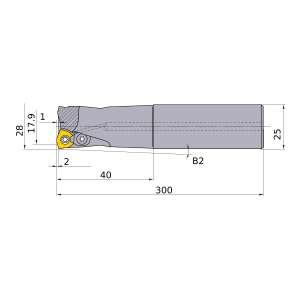 Mitsubishi-AJX09R282SA25EL 17.9mm Face Mill (AJX09R282SA25EL)