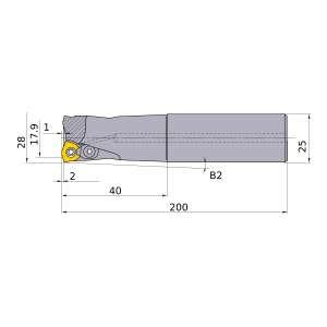 Mitsubishi-AJX09R282SA25L 17.9mm Face Mill (AJX09R282SA25L)
