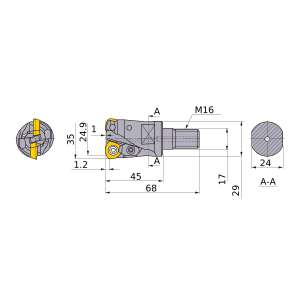 Mitsubishi-AJX09R353AM1645 24.9mm Face Mill (AJX09R353AM1645)