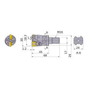 Mitsubishi-AJX12R302AM1645 18.3mm End Mill (AJX12R302AM1645)