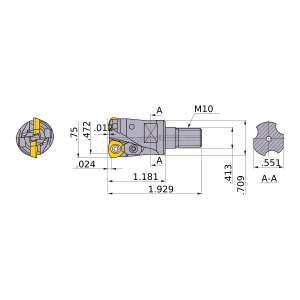 Mitsubishi-AJXU06R123AM1030 0.472 End Mill (AJXU06R123AM1030)