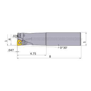 Mitsubishi-AJXU09R162SA16L 0.6 End Mill (AJXU09R162SA16L)