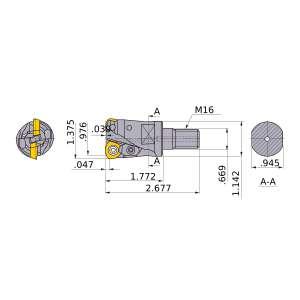 Mitsubishi-AJXU09R223AM1645 0.976 End Mill (AJXU09R223AM1645)
