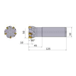 Mitsubishi-APX3000R507SA32SA 50mm End Mill (APX3000R507SA32SA)