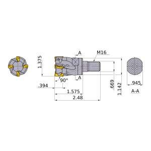 Mitsubishi-APX3000UR225AM16A40 1.375 End Mill (APX3000UR225AM16A40)