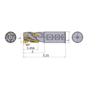 Mitsubishi-APX3KUR162FA16M14A08 1 End Mill (APX3KUR162FA16M14A08)