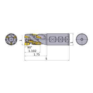 Mitsubishi-APX3KUR162FA16S11A06 1 End Mill (APX3KUR162FA16S11A06)