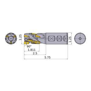 Mitsubishi-APX3KUR202FA20M18A10 1.25 End Mill (APX3KUR202FA20M18A10)