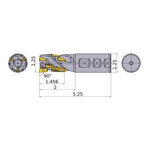 Mitsubishi-APX3KUR202FA20S14A08 1.25 End Mill (APX3KUR202FA20S14A08)