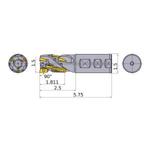 Mitsubishi-APX3KUR243FA24S18A15 1.5 End Mill (APX3KUR243FA24S18A15)
