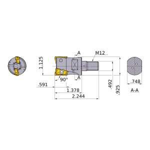 Mitsubishi-APX4000UR182AM12A35 1.125 End Mill (APX4000UR182AM12A35)