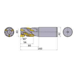 Mitsubishi-APX4KR4008SA42S056A 40mm End Mill (APX4KR4008SA42S056A)