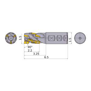 Mitsubishi-APX4KUR2412WA24S35A 1.5 End Mill (APX4KUR2412WA24S35A)