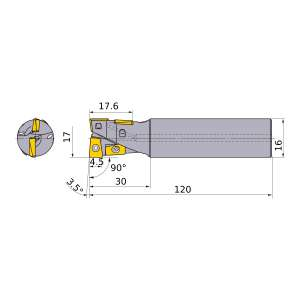 Mitsubishi-AQXR174SA16S 17mm End Mill (AQXR174SA16S)