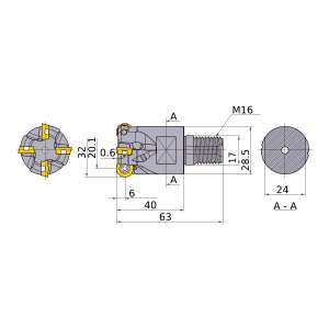 Mitsubishi-ARP6PR3202AM1640 20.1mm End Mill (ARP6PR3202AM1640)