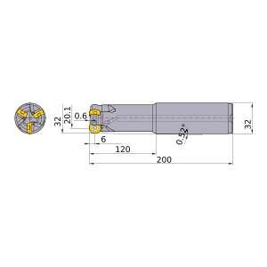 Mitsubishi-ARP6PR3202SA32L 20.1mm End Mill (ARP6PR3202SA32L)