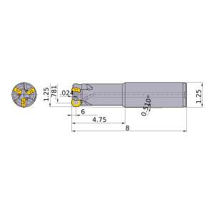 Mitsubishi-ARP6UPR2002SA20L 0.781 End Mill (ARP6UPR2002SA20L)