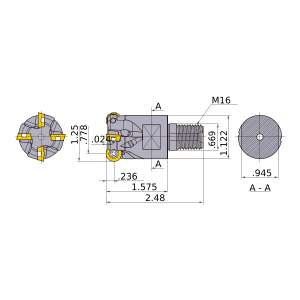 Mitsubishi-ARP6UPR2003AM1640 0.778 End Mill (ARP6UPR2003AM1640)