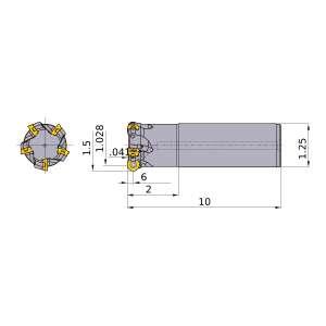 Mitsubishi-ARP6UPR2403SA20L 1.028 End Mill (ARP6UPR2403SA20L)