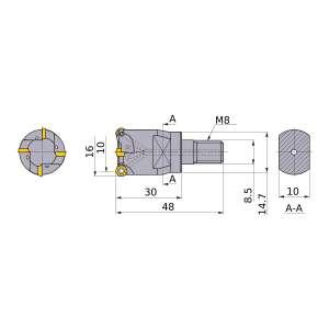 Mitsubishi-ARX25R163M08A30 10mm End Mill (ARX25R163M08A30)