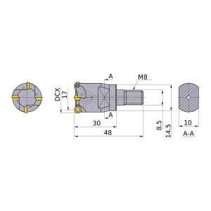 Mitsubishi-ARX25R173M08A30 17mm End Mill (ARX25R173M08A30)