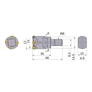 Mitsubishi-ARX30R173M08A30 11mm End Mill (ARX30R173M08A30)