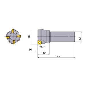 Mitsubishi-ASX400R504S32 50mm End Mill (ASX400R504S32)