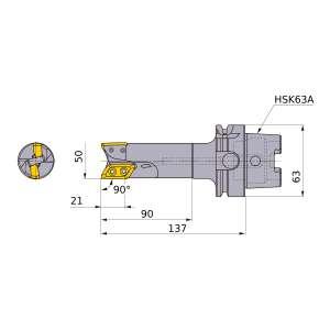 Mitsubishi-AXD7000R05003A-H63A 50mm End Mill (AXD7000R05003A-H63A)