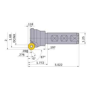 Mitsubishi-BOE4R323W20 1.68 End Mill (BOE4R323W20)