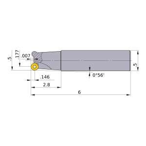 Mitsubishi-BRP3UNR081LW08 0.177 End Mill (BRP3UNR081LW08)