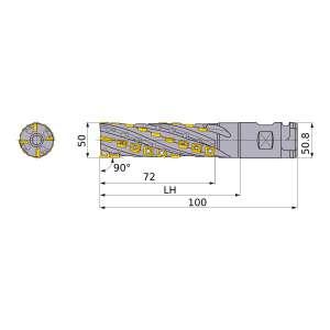 Mitsubishi-SPX4R05016WNES 50mm End Mill (SPX4R05016WNES)