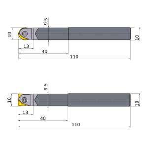 Mitsubishi-SRFH10S10MW 10mm End Mill (SRFH10S10MW)